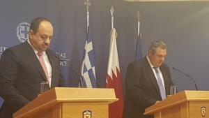 Όπως δεσμεύτηκε ο αναπληρωτής Πρωθυπουργός και Υπουργός Άμυνας του Κατάρ, στη συνάντηση του με τον Πάνο Καμμένο, το εμιράτο θα αναλάβει πρωτοβουλίες για την αποφυλάκιση τους.