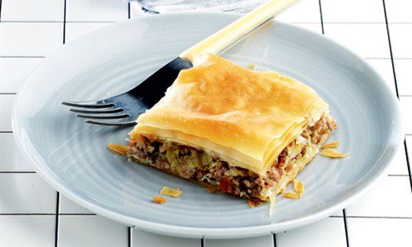 Πρασοκρεατοτυρόπιτα-Βασιλόπιτα της Μακεδονίας