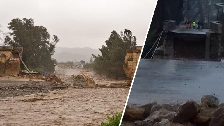"""Η """"Ωκεανίδα"""" γκρέμισε γέφυρα 111 ετών στα Χανιά"""