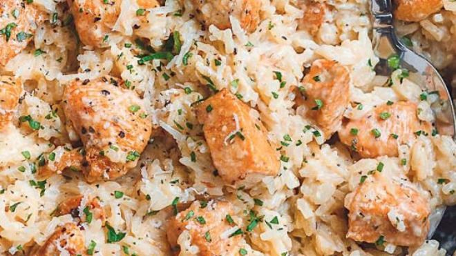 Κοτόπουλο πιλάφι στο φούρνο