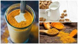 Οι ωφέλειες του ροφήματος από γάλα αμυγδάλου με κουρκουμά