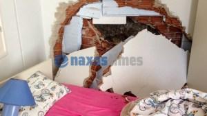Απίστευτο συμβάν στη Νάξο: Γιατρός σώθηκε από θαύμα, όταν βράχος προσγειώθηκε δίπλα από το… κρεβάτι της