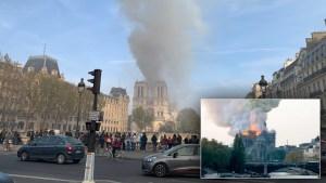 Στις φλόγες η Παναγία των Παρισίων .Δείτε live εικόνα