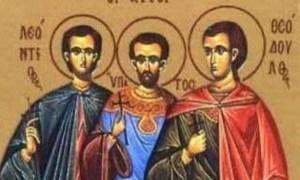 Σήμερα τιμώνται ο Άγιος Λεόντιος και οι συν αυτώ Υπάτιος και Θεόδουλος