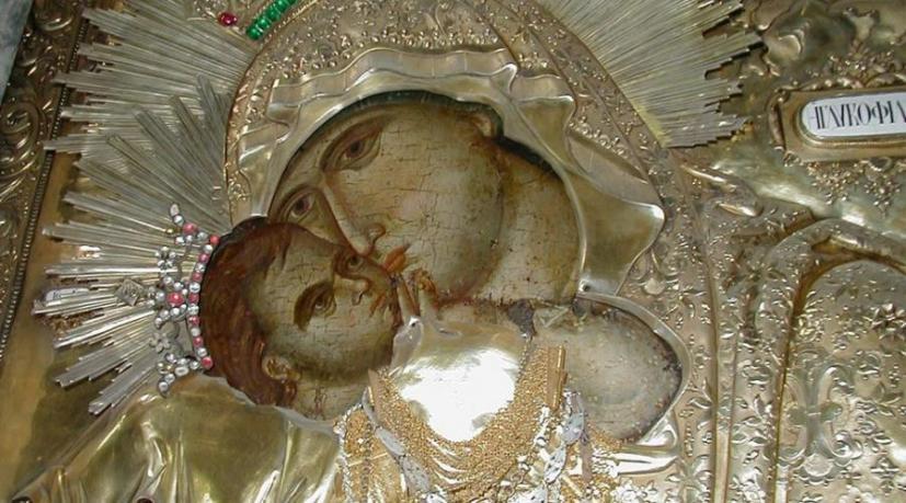 Η Θαυματουργή Εικόνα της Παναγίας της Γλυκοφιλούσας στη Μονή Φιλοθέου..