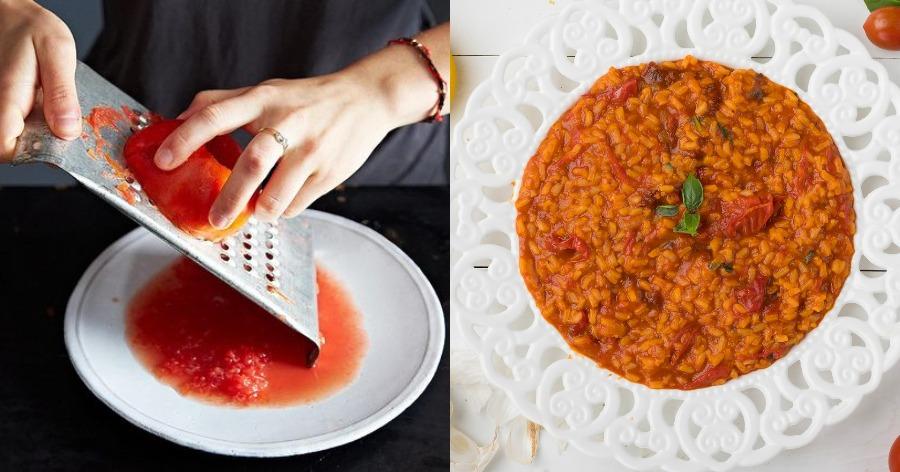Ντοματόρυζο με βασιλικό και ελιές: Μοναστηριακή νηστίσιμη συνταγή με πλούσιο άρωμα και γεύση