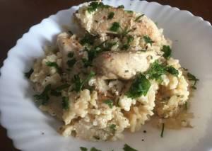 Κοτόπουλο με λεμόνι & ρύζι στην κατσαρόλα