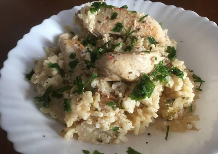 Κοτόπουλο με λεμόνι & ρύζι στην κατσαρόλα.fiftififti.eu