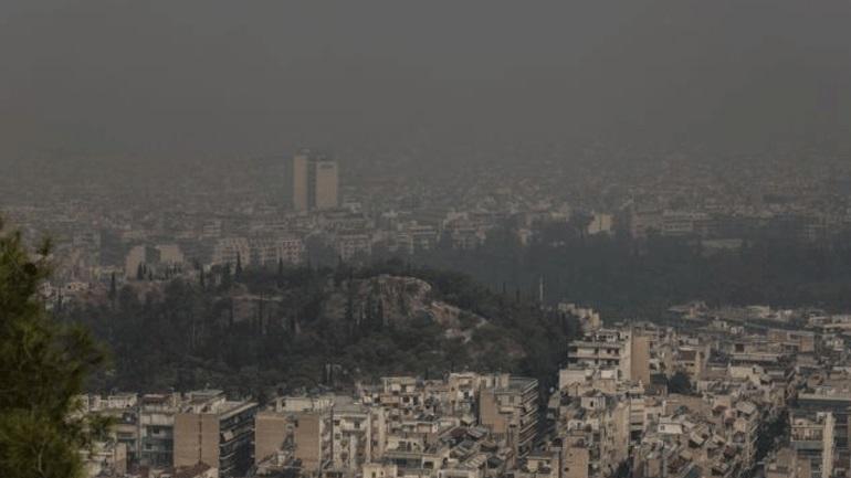 Άσχημη η κατάσταση της ατμόσφαιρας στο Λεκανοπέδιο Αττικής από τα μικροσωματίδια των πυρκαγιών