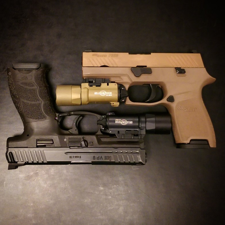 FDE vs. Black - weapon contrast