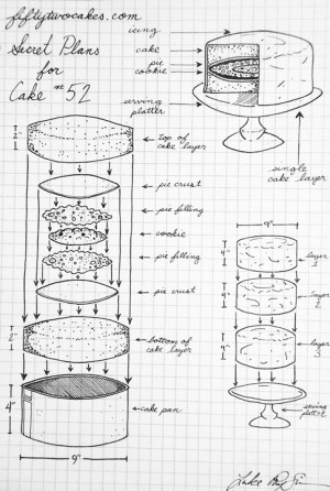 Creating the B52 Cake: Diagrams & Schematics | 52 Cakes