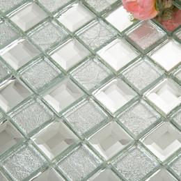 crystal glossy glass tile mosaic