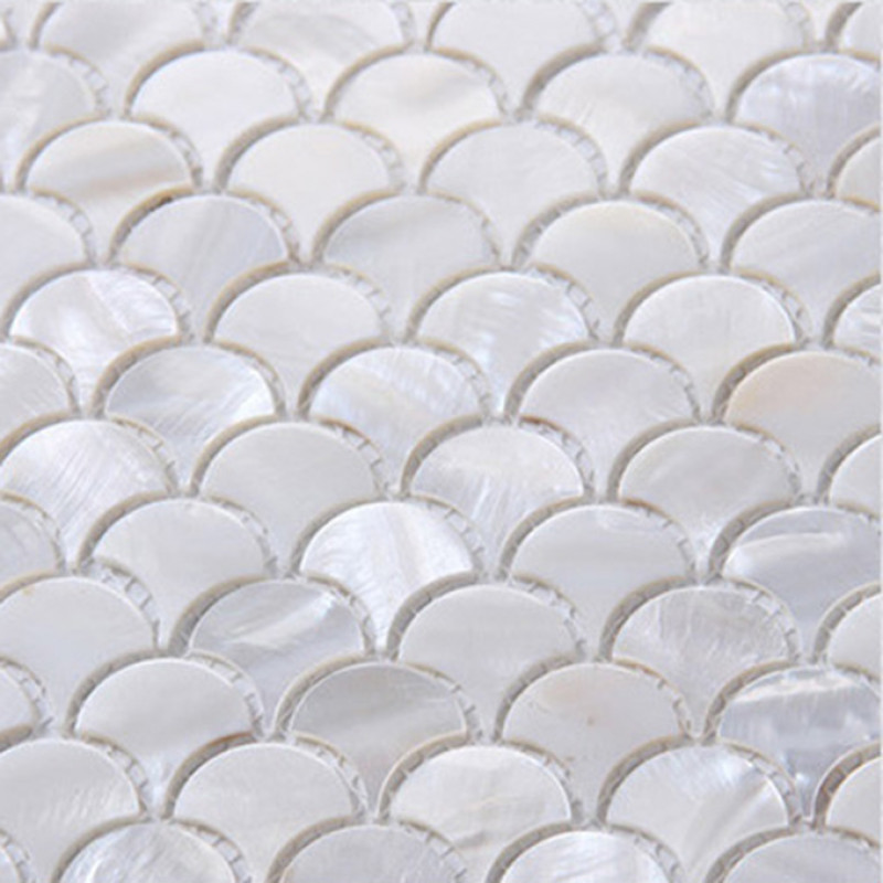 ultra white mother of pearl tile backsplash fish scale shell mosaic kitchen and bathroom wall tiles tile size 1 x 1 x 1 12