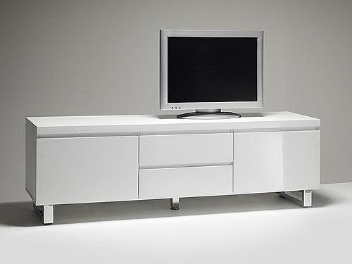 meuble tv blanc 160 cm petit banc tv