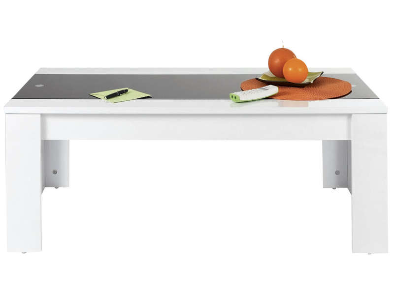 table basse jackson coloris blanc noir