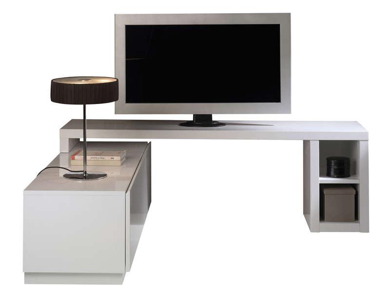 40 Sur Meuble Tv Modulable Nani Coloris Blanc Vendu Par Conforama