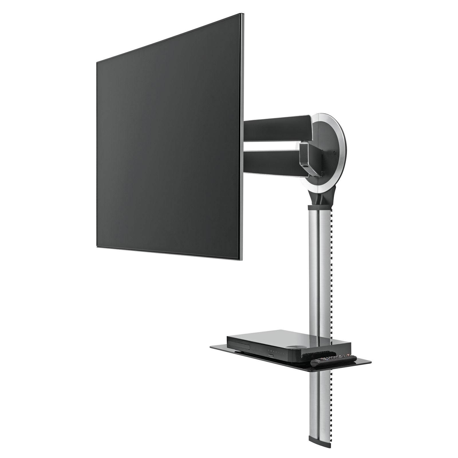 support mural tv avec cache cable