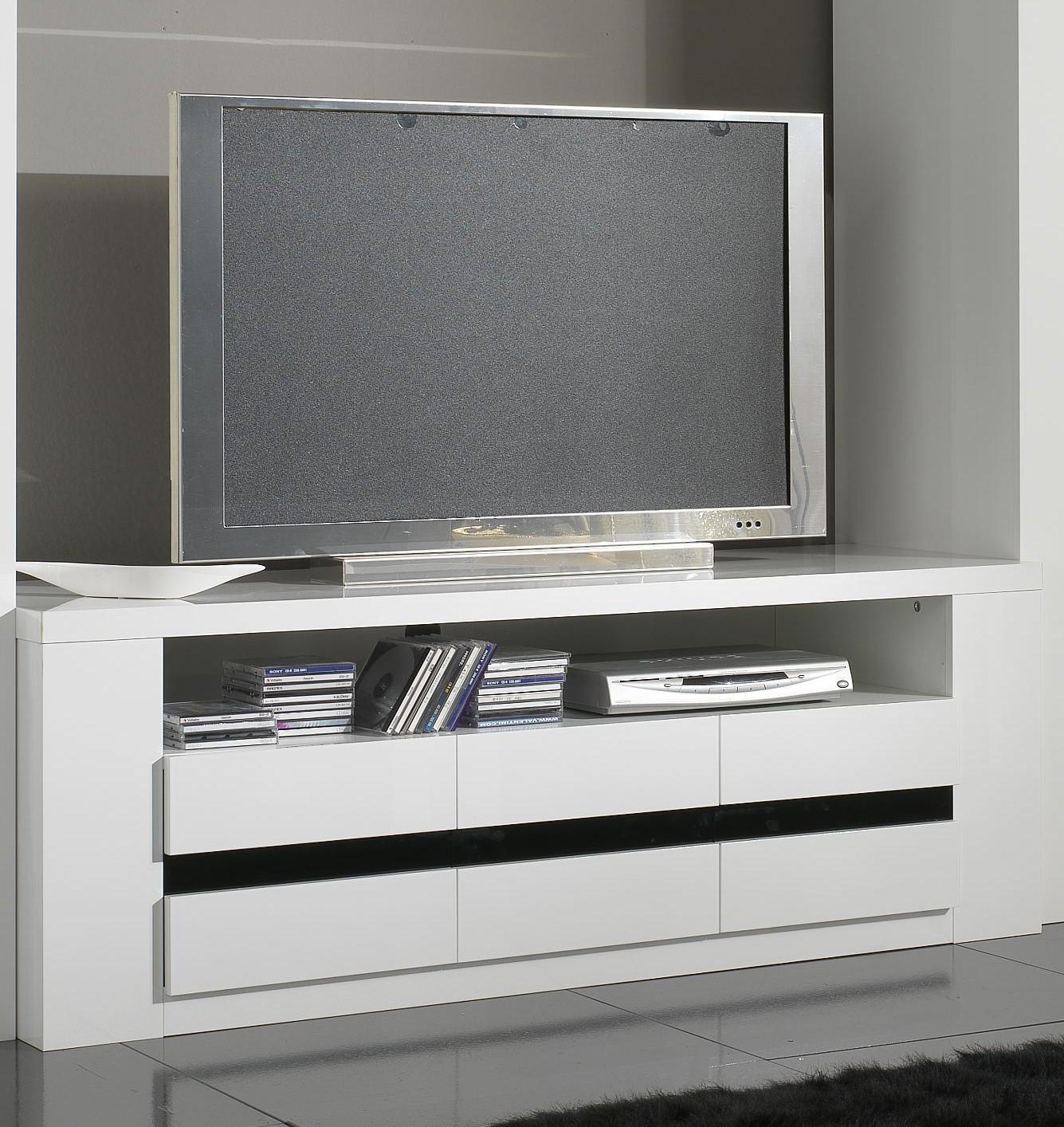 meuble tv d angle blanc laque meuble tv