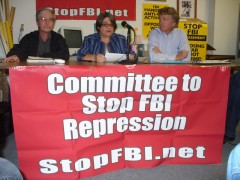 Mick Kelly, Jess Sundin, and Bruce Nestor at May 18 press conference