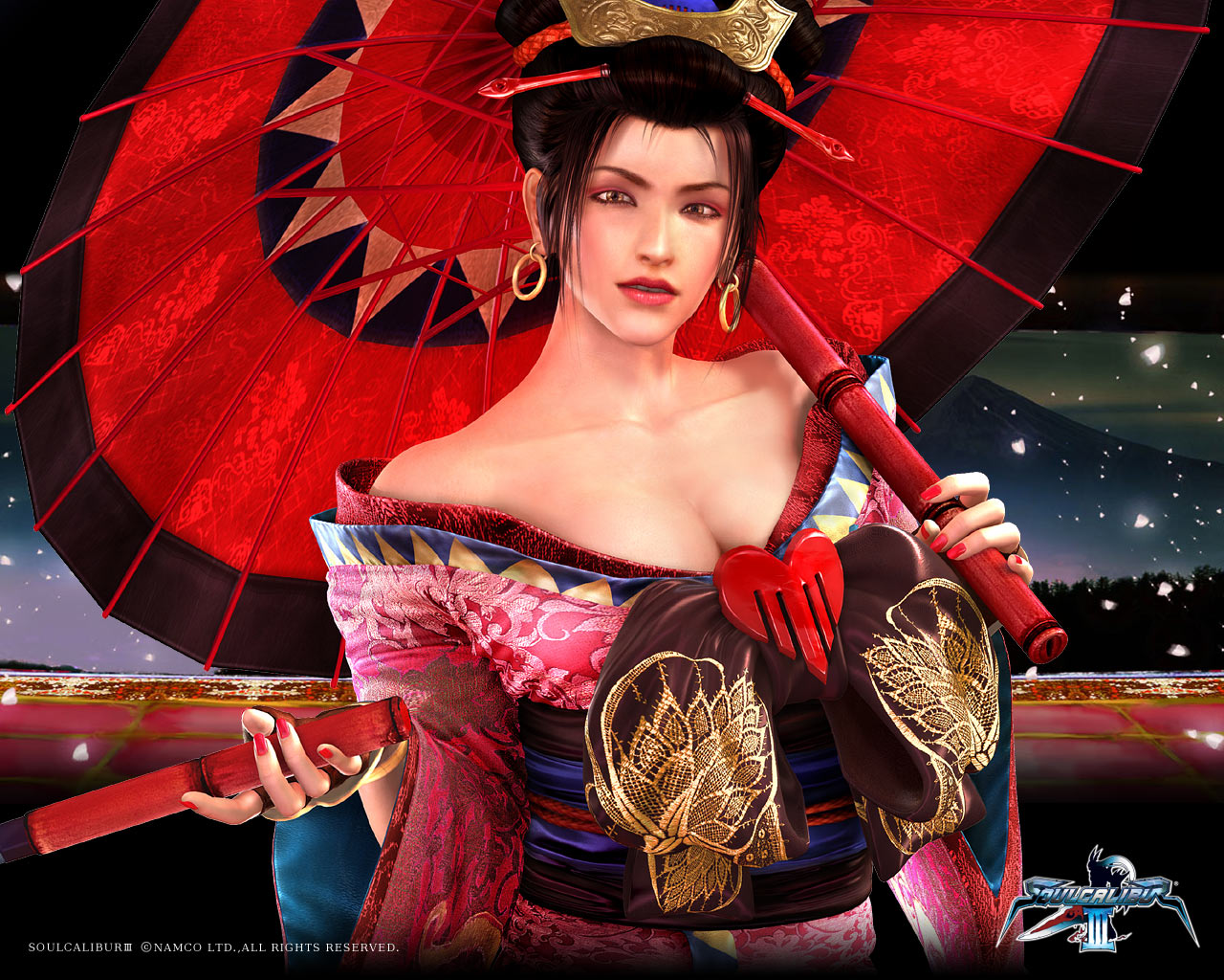 Black Beautiful Girl Wallpaper Setsuka Soul Calibur