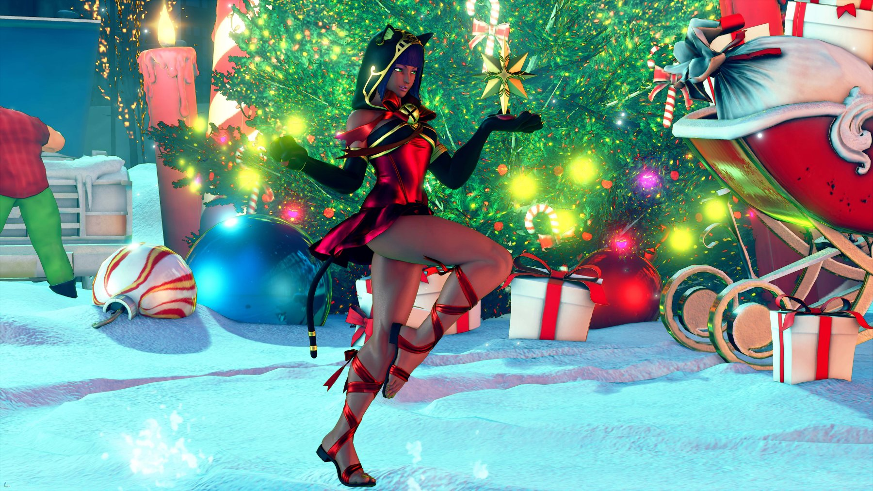 Anime Girl Christmas Wallpaper New Street Fighter V Holiday Amp Classic Costumes Available
