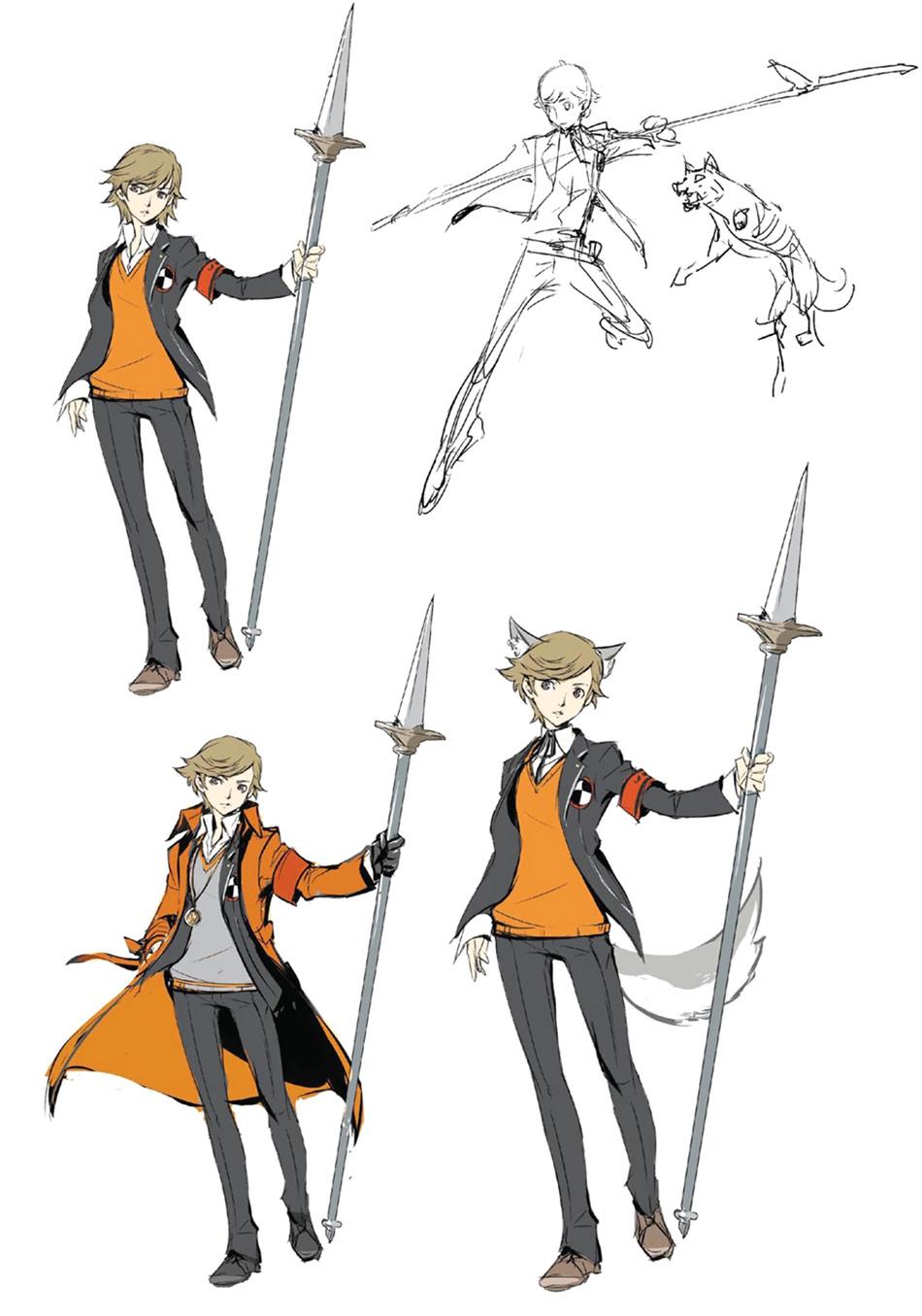 Persona 4 Cute Chie Wallpaper Ken Amada Amp Koromaru Persona 4 Arena Ultimax
