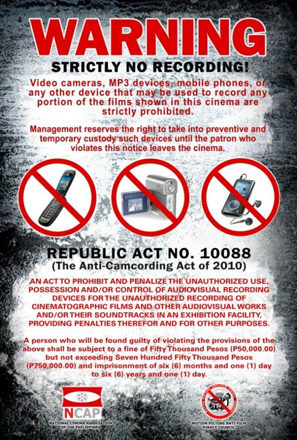 Anti Camcording Campaigns Fight Film Theft