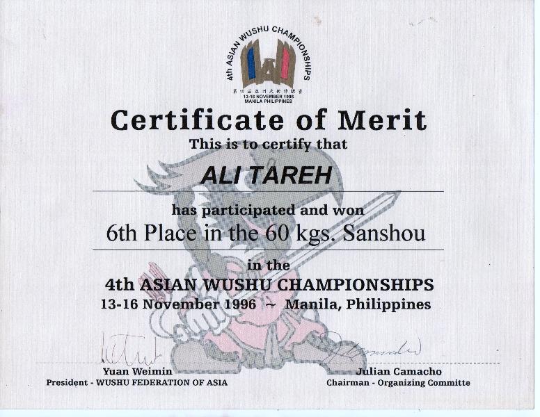 Asian Wushu Championships