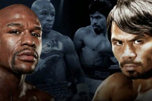 Mayweather Pacquiao face off 2015