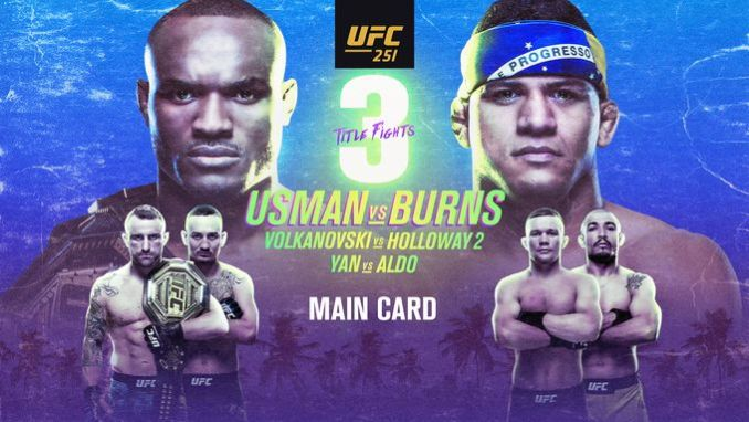 Poster del UFC 251 Usman vs Burns
