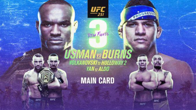 Poster del UFC 251 Usman vs Burns