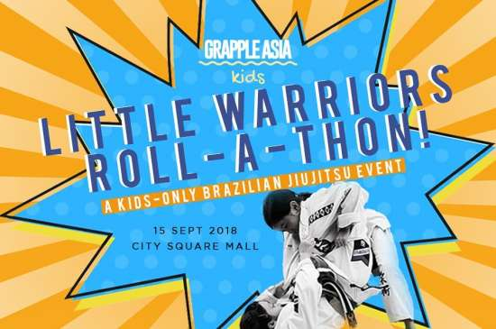 BJJ - Little Warriors ROLL-A-THON Kids by Grapple Asia @ city square mall