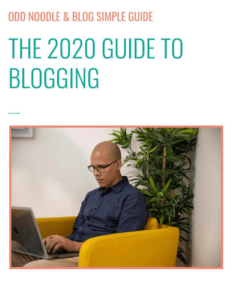 The Blog Simple Guide cover page
