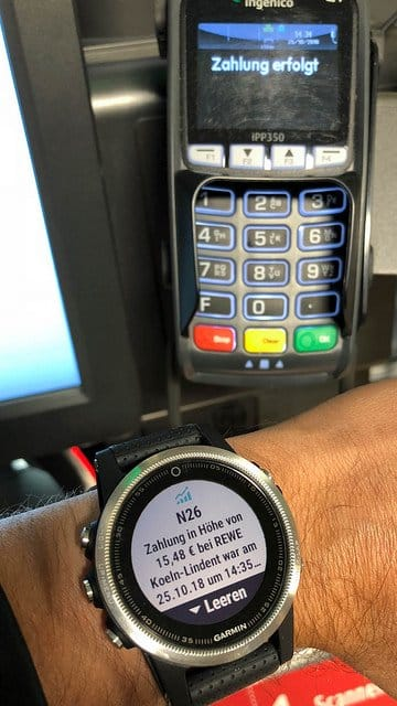 Wireless Paying With Watch