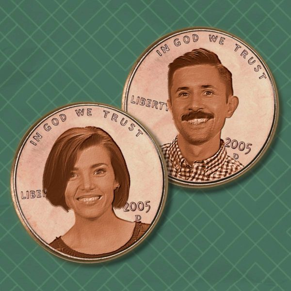 Portret of Two Cents hosts Julia Lorenz-Olson and Philip Olson