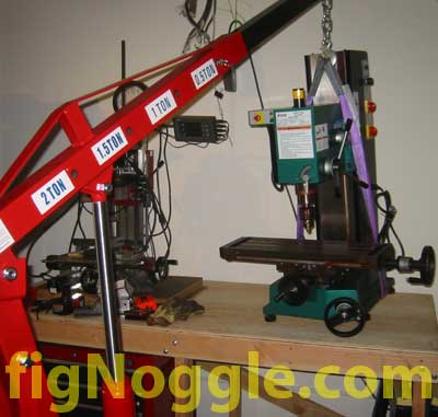 Moving The Grizzly G0463 X3 Mill Made By Sieg Using A