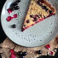 Blackcurrant Crumble Tart