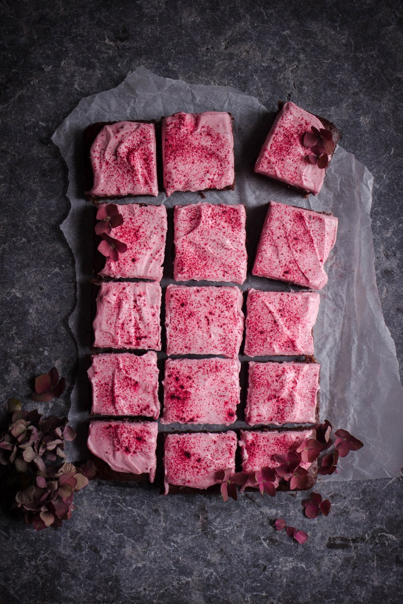 Chocolate beetroot cake with mascarpone frosting