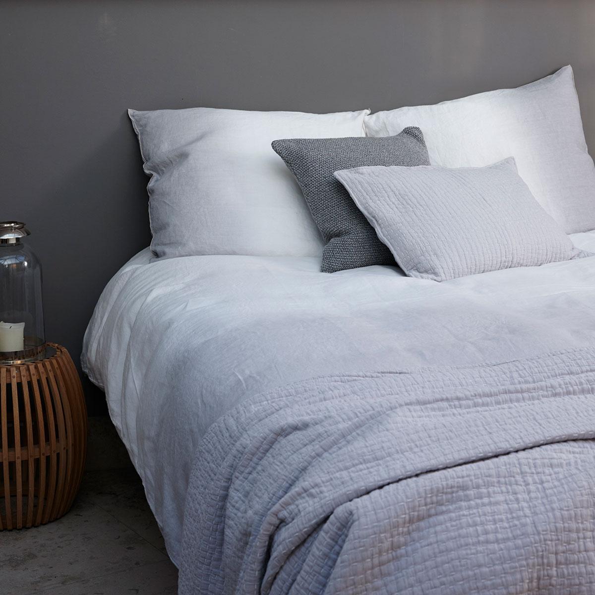 House In Style Dekbedovertrek Pistoria Wit Grey Lits Jumeaux
