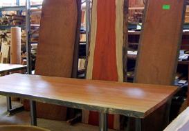 Huis interieur en inrichting met bijzonder hout