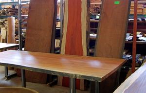 Stamdelen tafelbladen uit boomschijven
