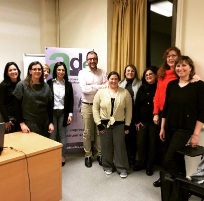 Associació Dones Emprenedores del Vallès: A l'acte de presentació a Sabadell de l'Associació de Dones Emprenedores del Vallès. Març 2018.