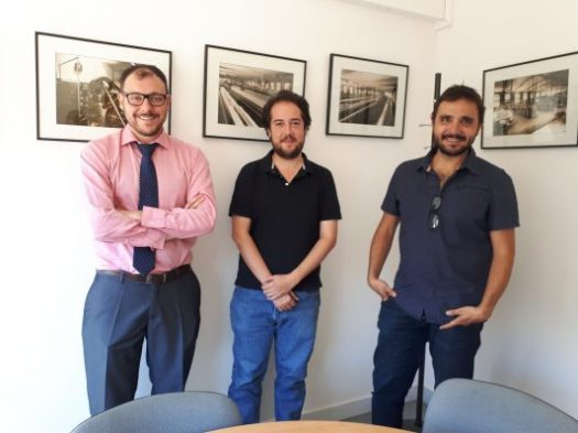 Vapor Llonch: Trobada amb el regidor de Treball i Empresa de l'Ajuntament de Sabadell, Eduard Navarro, i Martí Saiz de Cèl·lula Acció Creativa. Juliol 2017.