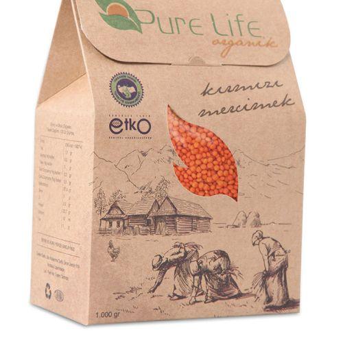 Pure Life Organik Kutu tasarımı