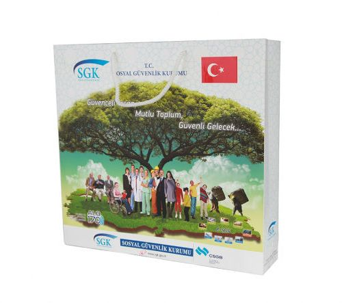 SGK DIş ilişkiler Başkanlığı Karton Çanta tasarımı