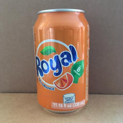 Royal Tru-Orange Canned Soda