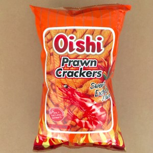 Oishi Prawn Crackers Extra Hot Flavor