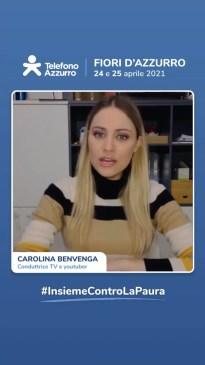 video messaggio Carolina Benvenga