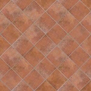 terracotta quarry tiles and brick