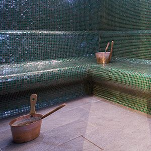 epoxy grout residue on glass mosaic